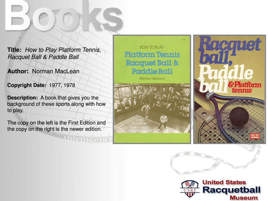 history of racquetball The history of racketball the history racketball was founded in the us in 1952 and its popularity grew rapidly a major contributing factor being that the sport was.